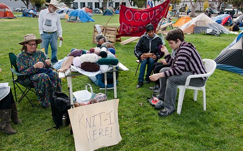 'Knit-In at the Sit-In'